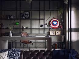 Marvel Bedroom Decor Marvel Heroes Inspired Industrial Of Style House Triplecr
