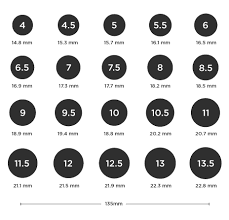 Mens Online Ring Size Chart Find Your Ring Size Ring Size Chart And Conversions