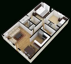 Sq Ft Apartment Floor Plan D Architecture  Bedroom  Bath - Studio apartment floor plans 3d