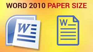 How To Choose Paper Size And Source In Microsoft Word 2010 Youtube