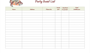 Wedding Guest List Template Pdf - April.onthemarch.co