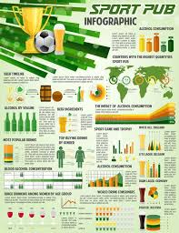 Vector Infographic For Soccer Football Pub Stock Vector