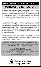 managing director job karachi sui southern gas company limited managing director job karachi sui southern gas company limited ssgc job