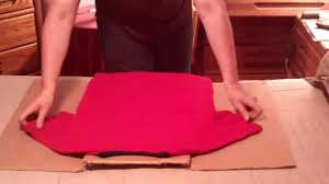 Folding Template For Clothes How To Fold T Shirts Using A Cardboard Box 001