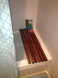 bathtub bench seat spa bath bench using redwood planks are at home depot great for bathtub bench seat