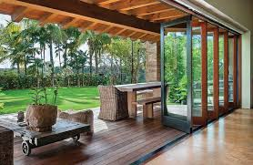 when closed bifold doors provide privacy and protection while allowing unobstructed views