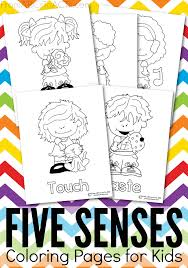 Five Senses Printable Coloring Pages From Abcs To Acts