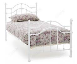 serene furnishing paris white gloss metal bed frame
