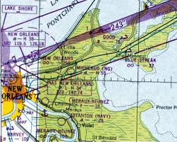 New Orleans Sectional Chart Abandoned Little Known Airfields Louisiana Eastern New