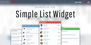 Secrets of the Simple List Widget - ServicePortal.io - Service ...