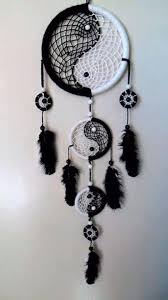 Black And White Dream Catcher Tumblr Custom Dreamcatcher Yin Yang Black White I Want To Try And Make This