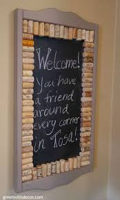 what a fun easy diy project with wine corks and chalkboard paint now i