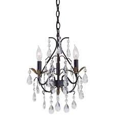 minka lavery castlewood walnut three light mini chandelier