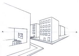 perspective drawings of buildings. Online Perspective Drawing Lesson: How To Draw Buildings Using Two Point Drawings Of