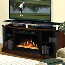inch electric fireplace a console glass embers mocha built in uk tv stand with