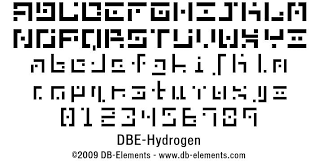 Fonts Dbe Hydrogen Regular By Db Elements Abstract Fonts