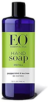 EO <b>Hand Soap</b>: <b>Peppermint</b> and Tea Tree, 32 Ounce <b>Refill</b>