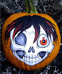 Scary Pumpkin Painting Pumpkin Painting Anime Zombie By Denise A Wells Just Fini Flickr