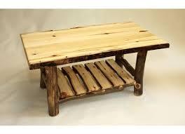 rustic furniture coffee table. amish rustic log coffee table solid aspen slab wood cabin lodge furniture new n