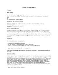informal memo template informal report example research format pdf business analytical
