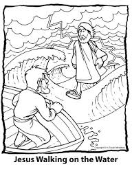Small Picture Peter Walks On Water Coloring Page Coloring Pages Peter Walks On