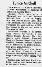 Eunice Fritz Mitchell (1907-1986) - Find A Grave Memorial