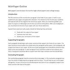 Mla Outline Format Template Digitalhustle Co