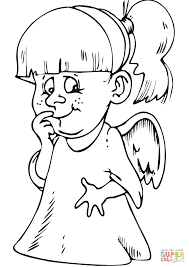 Small Picture Little Girl Angel coloring page Free Printable Coloring Pages