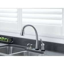 Delta Touch2o Kitchen Faucet Delta Arctic Stainless Finish Pilar Collection Single Handle Pull