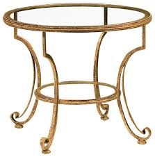 lovable round glass end table round glass top table gold finish transitional side tables