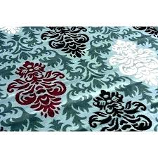 gray and white area rug red