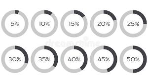 Pie Chart 45 Infographics Vector 5 10 15 20 25 30 35 40