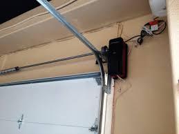 side mount garage door opener corner