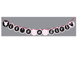 Printables Its A Girl Banner Fellowes