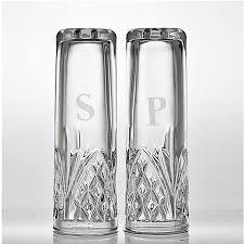 salt and pepper shakers. Godinger Crystal Salt And Pepper Shakers 25222 D