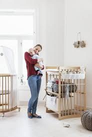 scandinavian nursery furniture. Scandinavian Designed Nursery In Natural Wood \u2013 Stokke Mini Crib And Care Changing Table Furniture
