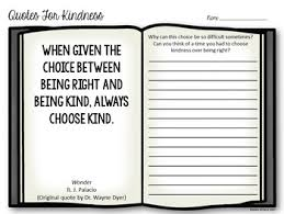 Kindness Quotes Classy Quotes For Kindness Writing Prompts By Addie Williams TpT