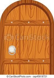 wooden old door home interior csp45818721