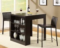 dining table with shelf underneath. small kitchen table set. nice that it includes the bar dining with shelf underneath