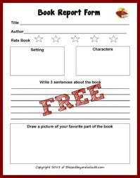 Free Printable 2nd Grade Book Report Forms Writing Pinterest