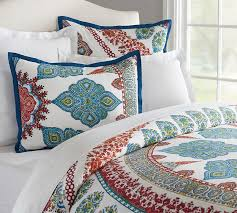 aurora duvet cover sham cool multi pottery barn regarding elegant household queen duvet covers plan