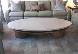 extra large round concrete coffee table