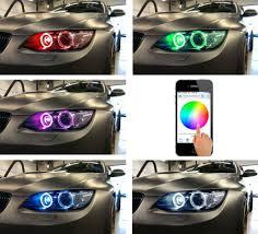 72w H8 Rgb Color Change Wifi Control Led Angel Eyes Halo Ring Marker Headlight Bulb For Bmw E82 E87 E83 1 3 5 Series X3 X5 X6 Z4