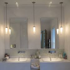 bathroom pendant lights bathroo lighting ideas with ceiling mounted ribbed light pendant side of mirror
