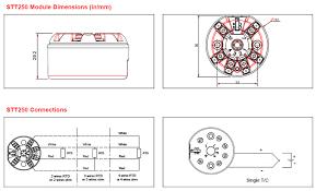 honeywell stt250 smart temperature transmitters honeywell stt250 dimensions and wiring