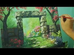 acrylic painting lesson gateway to flower garden by jm lisondra jm lisondra