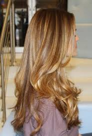 brown hair with caramel highlights golden blonde waves