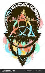 кельтские цвета татуировки футболку дизайн татуировка кельтский горы
