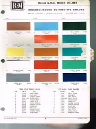 Sample General Color Chart 24 24 GMC Truck Color Chip Paint Sample Brochure Chart R M 1