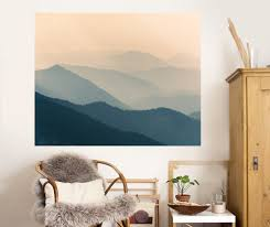 misty mountains wall mural your decal
